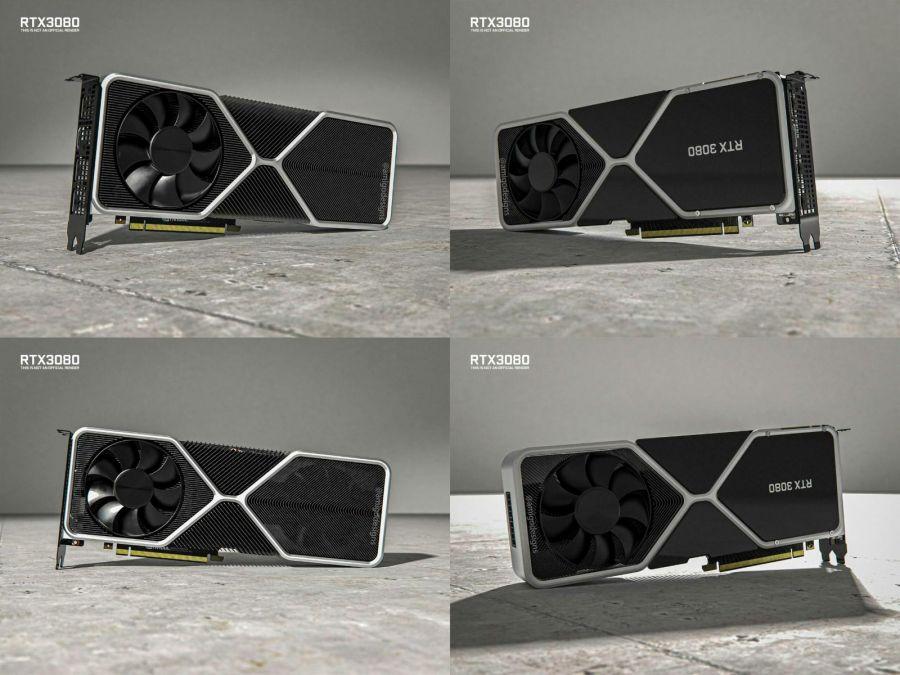 Видеокарта NVIDIA RTX 3080 получила изображения 3D-рендеринга со всех сторон