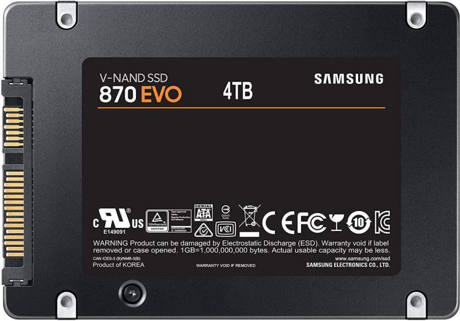Samsung представила твердотельные накопители 870 EVO объёмом до 4 Тбайт